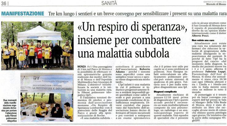 Il Giornale di Monza 22-10-19