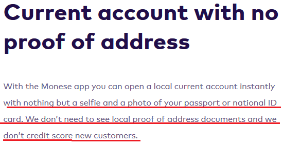cont bancar uk monese fara dovada de adresa