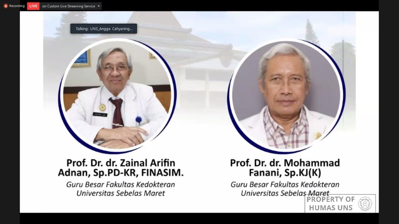 Dua Guru Besar UNS Purnatugas