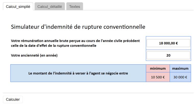 [UNSA] Rupture Conventionnelle, l'UNSA vous propose un simulateur en ligne.