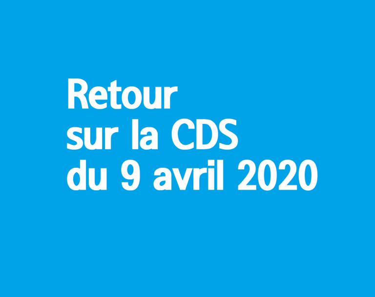 [UNSA] Retour sur la CDS du 9 avril 2020