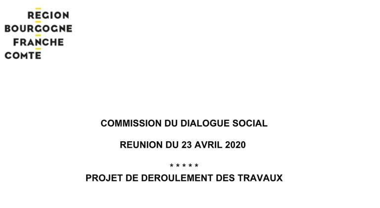 [UNSA] Ordre du jour de la Commission du Dialogue Social du 23 avril