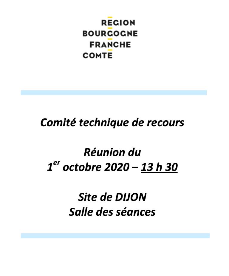 UNSA   ➡  Comité technique de recours du 1 octobre 2020