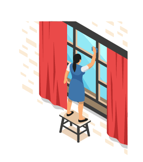 UNSA   ➡  Nettoyage des vitres   ➡  est- ce que j'ai le droit de monter sur un escabeau ?