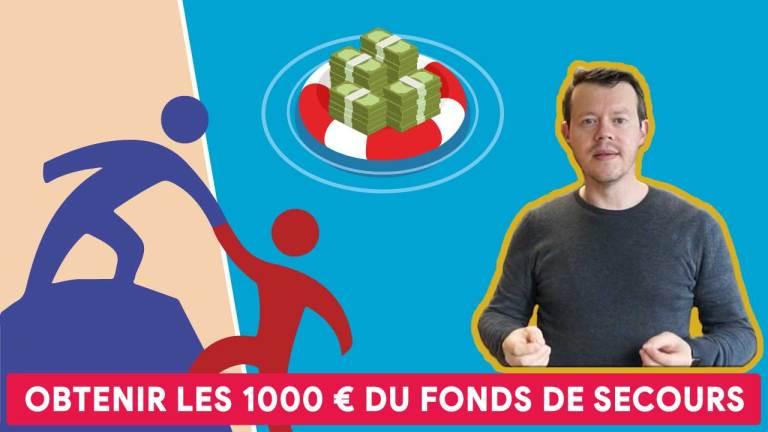 Tadaaaaaa 📹 Comment obtenir les 1000 euros du fonds de secours ?