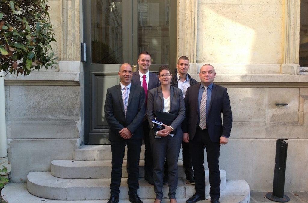 Une délégation UNSA-SDIS DE FRANCE reçue Place BEAUVEAU