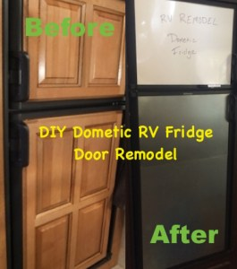 DIY Dometic RV Fridge  Door Remodel