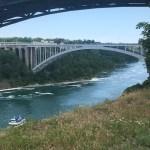 Walk or drive across the Rainbow Bridge