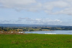 Rolling fields and lakes