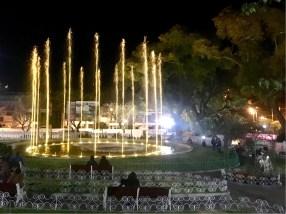 Fountains in Parque Bolivar