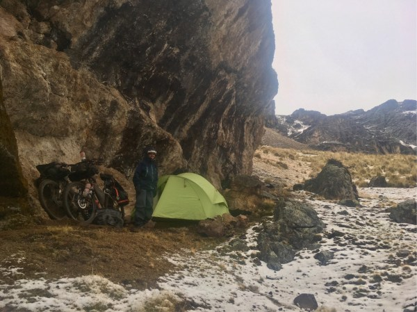 Our unintended campsite