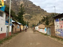 Typical mountain town; Main Street, Acobambilla