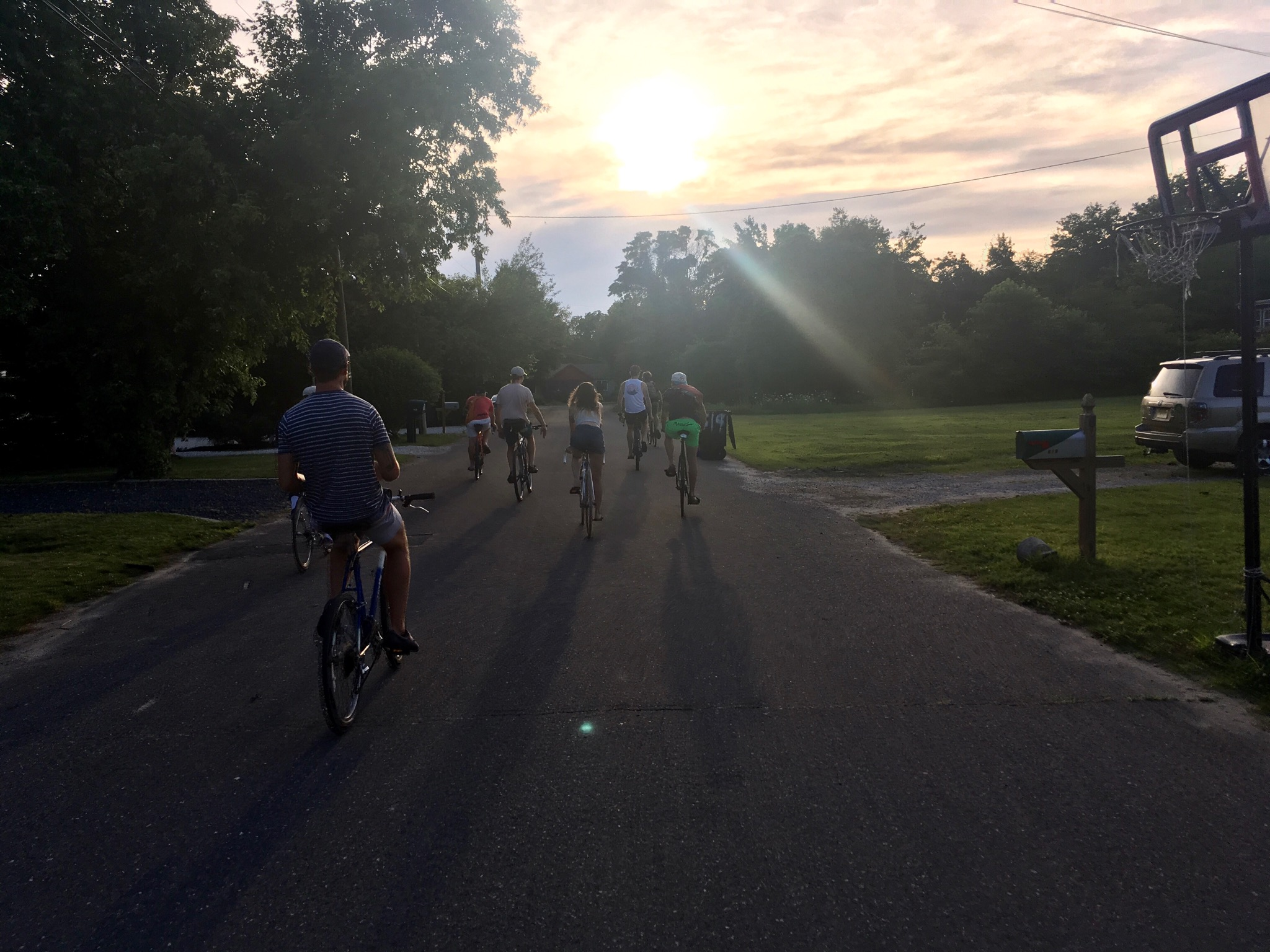 Cape May cycling club weekly evening sunset ride