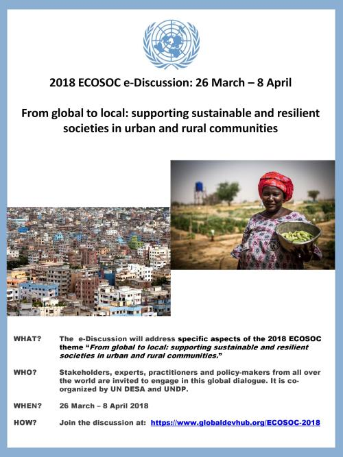 From Global to Local: supporting sustainable and resilient societies in urban and rural areas
