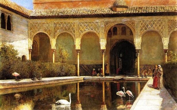 En la corte de la Alhambra musulmán