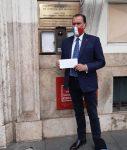 Admiral De Felice übergibt Protestschreiben an den deutschen Botschafter in Rom