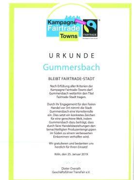 Gummersbach bleibt Fairtrade-Stadt