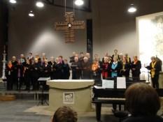 Gruppenfoto vom Chor Laudate unter der Leitung von Christian Gössel
