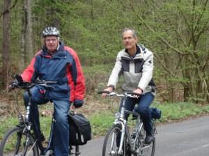 Foto mit Klaus-Peter Zens als Radfahrer