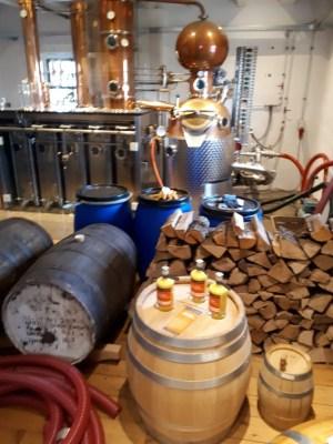 Foto der Destillieranlage in der Mühle 4