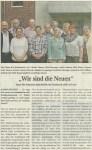 """Bild: Zeitungsartikel """"Wir sind die Neuen"""" - Quelle LNN 31.05.2015"""
