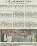 """Bild: Zeitungsartikel """"Hallo, wir sind die Neuen"""" - Quelle Stadt-Panorama 27.05.2015"""