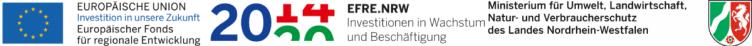 """Das Projekt """"Naturbezogene Bildung für Kinder und Jugendliche"""" des """"Neustart Innenstadt"""" wird durch Mittel des Landes Nordrhein-Westfalen und des Europäischen Fonds für regionale Entwicklung (EFRE) gefördert."""