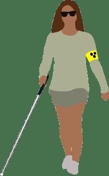 gezeichnetes Bild einer Blinden Frau