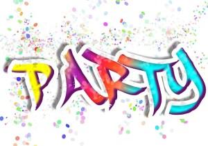 feiern in fröhlicher Runde