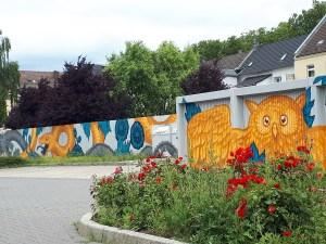 Wandmalerei auf einer Mauer