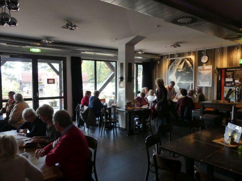 Das Bollwerk-Café war gut besucht.