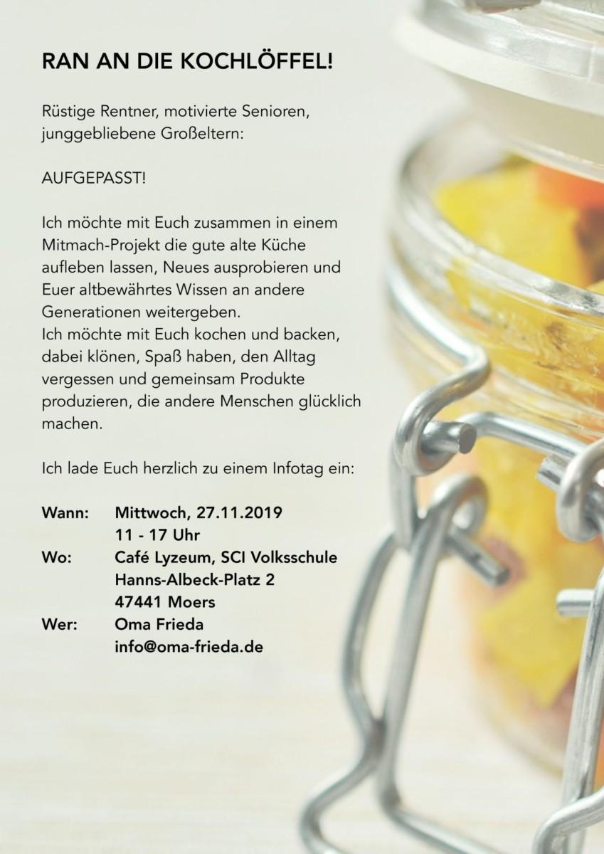 "Mitmach-Projekt ""Oma Frieda"""