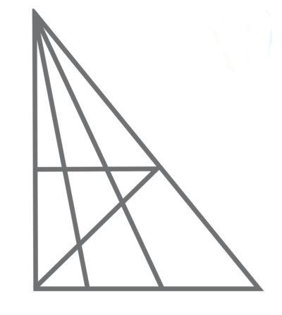 Wie viele Dreiecke finden Sie hier?