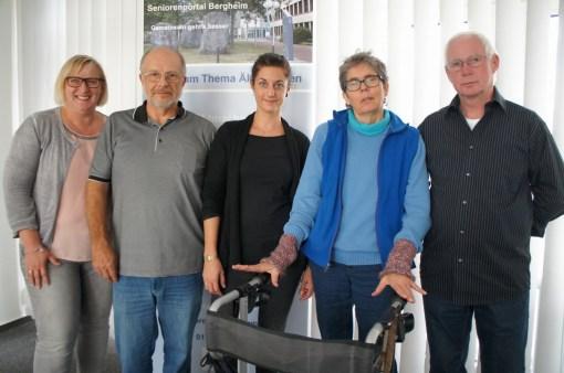 Das Online-Team mit Katrin Tegude von der Fachstelle Älterwerden
