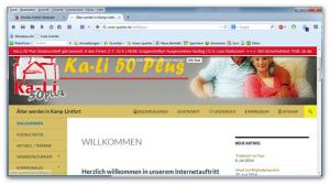 screenshot Kali50plus
