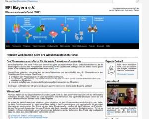 EFI-WAP - Startseite mit Informationen