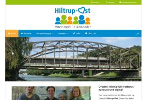 Screenshot des Quartiersportals Hiltrup-Ost