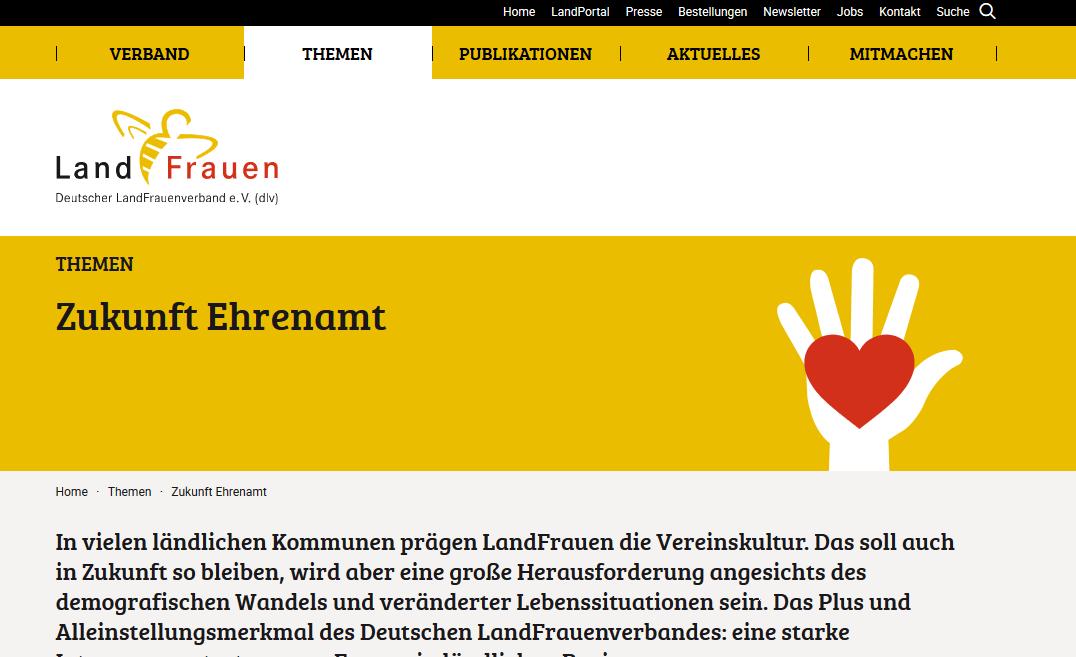 Deutscher Landfrauenverband e.V.: Positionspapier Ehrenamt 4.0