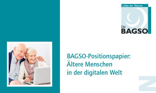 Ältere Menschen in der digitalen Welt – Die BAGSO bezieht Position