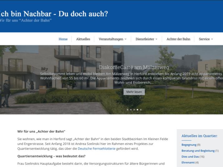 Quartiers-Webseite Neustart Innenstadt