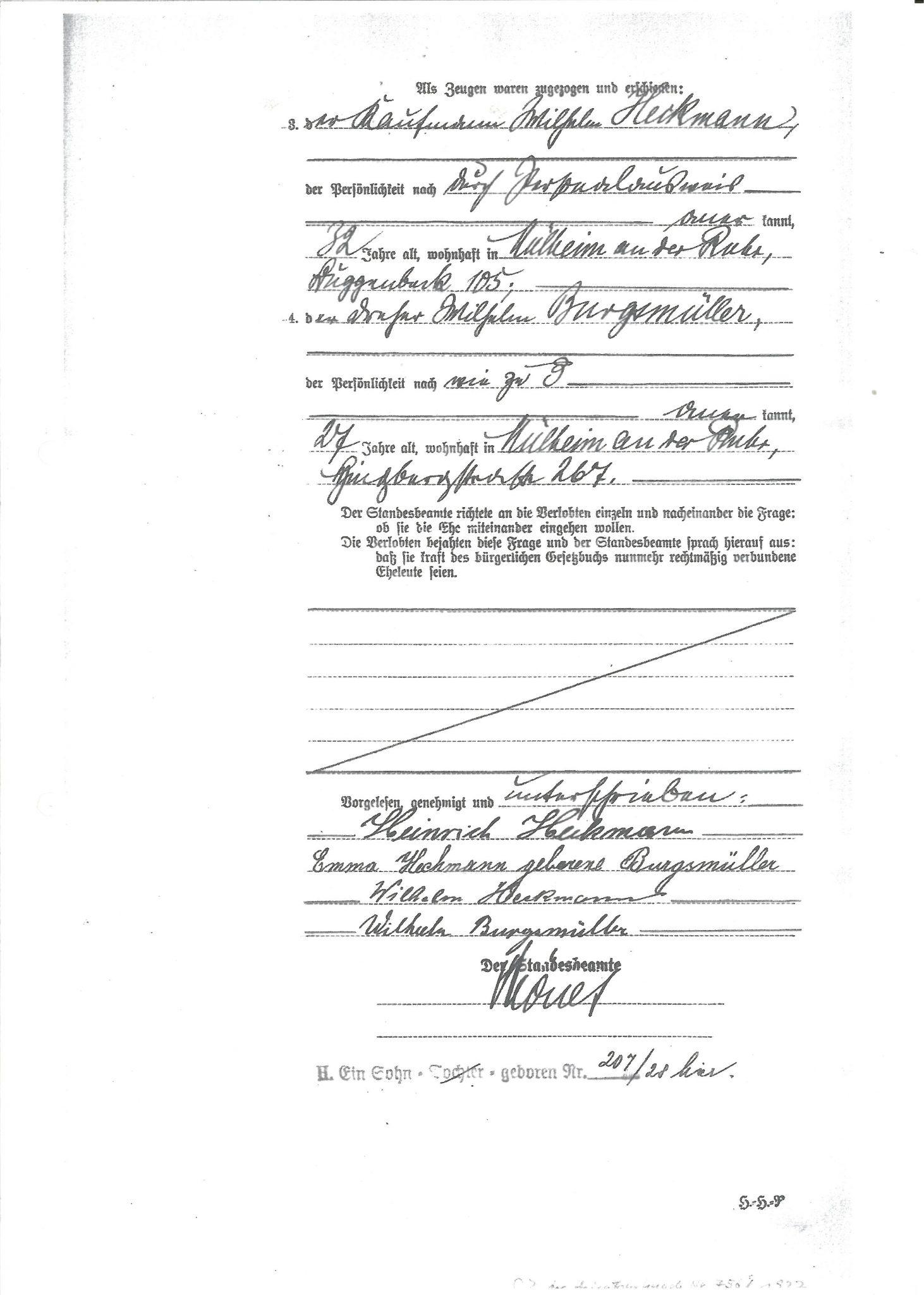 Das Datum ist in Sütterlin geschrieben