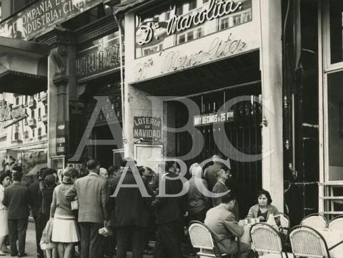 Administración de Lotería Doña Manolita en 1965. Foto: ABC