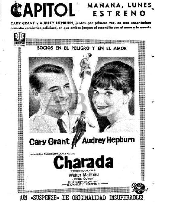 Estreno Charada Madrid Cine Benlliure