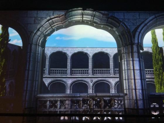 Reconstrucción del claustro del Monasterio de San Jerónimo El Real (gótico isabelino) en el Museo de los Orígenes. Foto propia