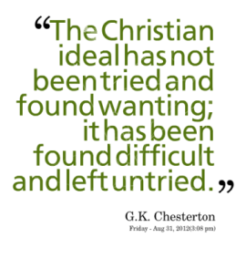 chesteron against casual christianity