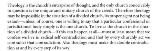 jenson theology divide church