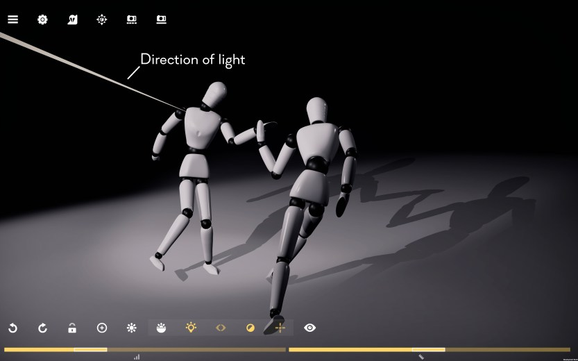 How to find direction of light?