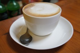 Cappuccino at Wake & Bake Cafe
