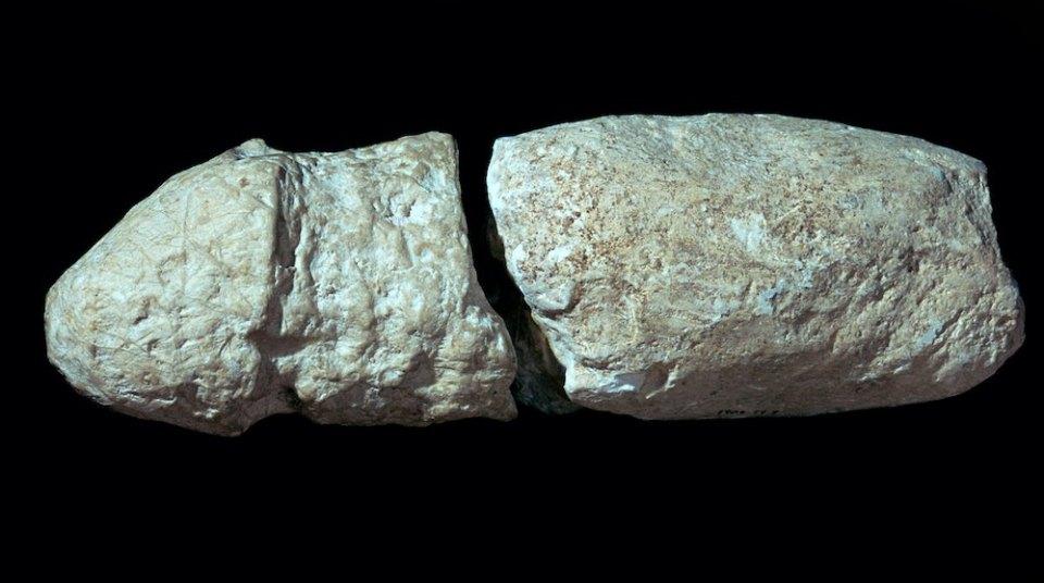 Carved Chalk Phallus.