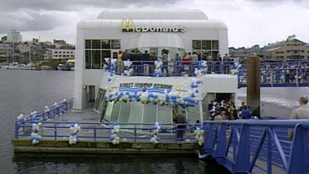Abandoned Floating McDonald's Outlet